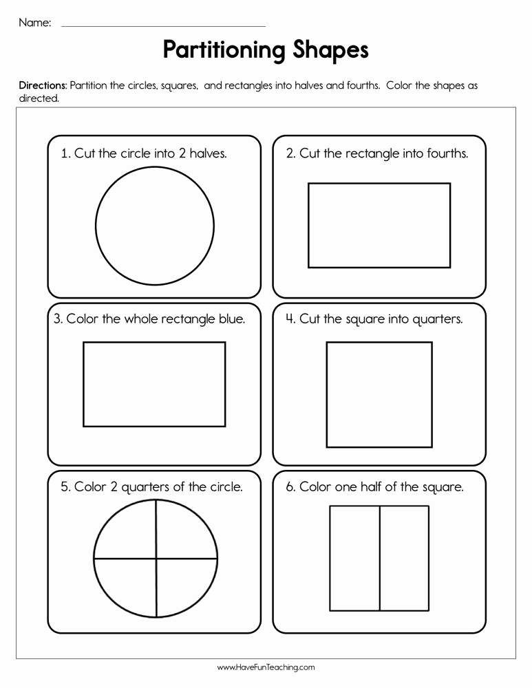 Fractions Worksheets First Grade Best Of First Grade Fractions Resources