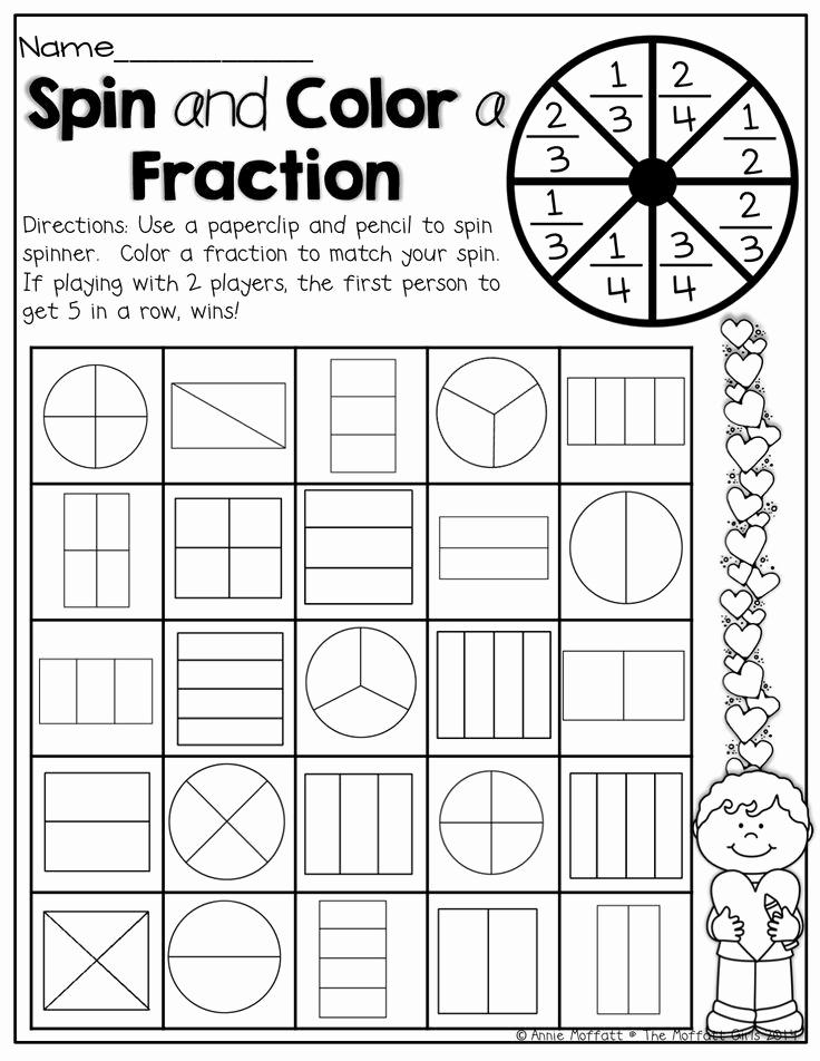 Fractions Worksheets First Grade Elegant 15 Best Of First Grade Fraction Worksheets First
