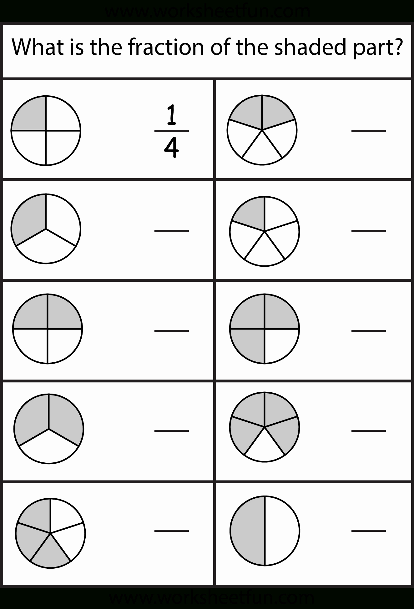 Fractions Worksheets First Grade Fresh Free Printable First Grade Fraction Worksheets