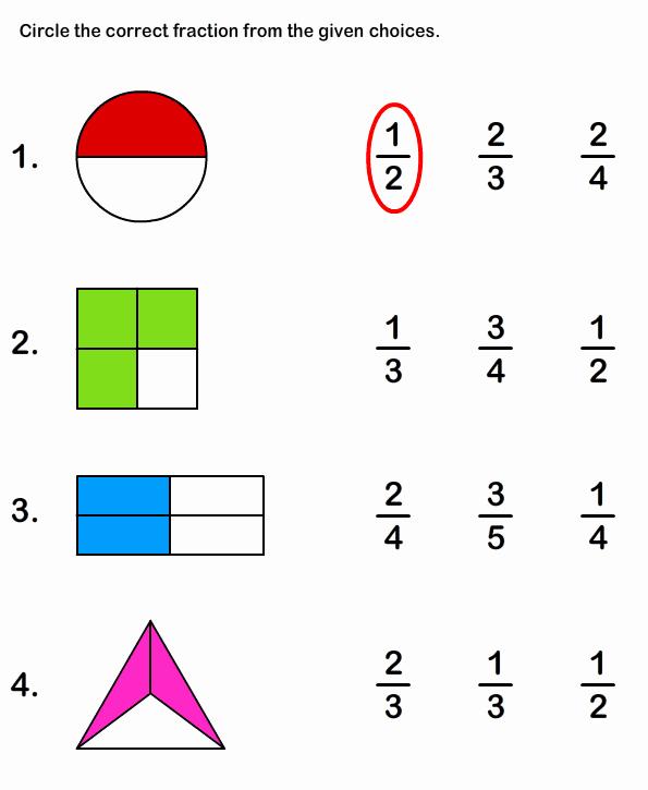 Fractions Worksheets First Grade Fresh Learn Fraction Worksheet 1