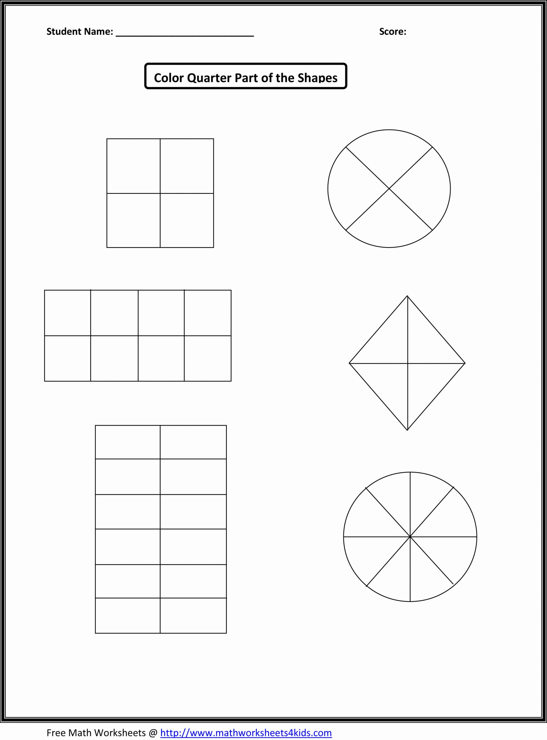 Fractions Worksheets First Grade Luxury 12 Best Of Basic First Grade Fractions Worksheets