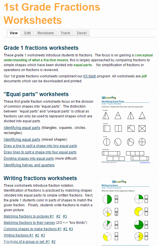 Fractions Worksheets First Grade New New First Grade Fractions Worksheets