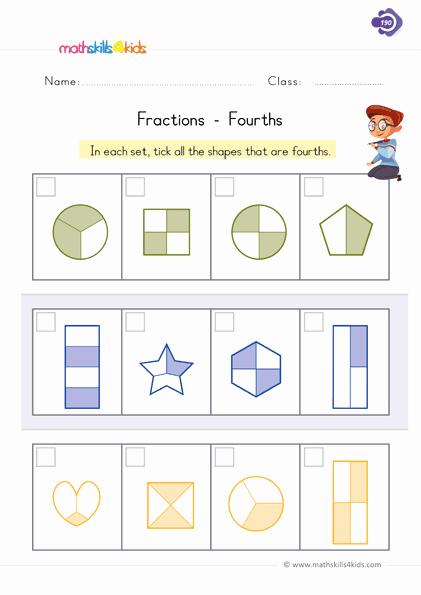 Fractions Worksheets First Grade Unique Fraction Worksheets for Grade 1 Pdf