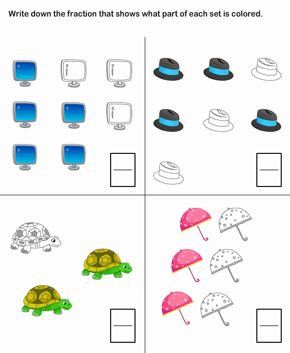 Fractions Worksheets First Grade Unique Learn Fraction Worksheets for Kids