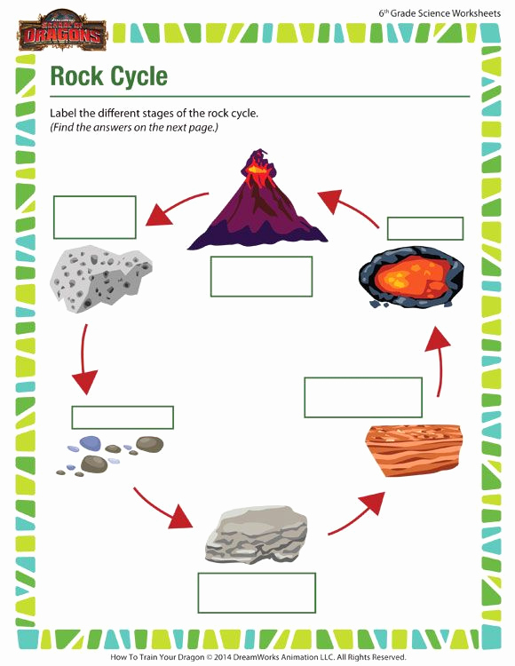 Free 6th Grade Science Worksheets Elegant Rock Cycle Free 6th Grade Science Worksheet