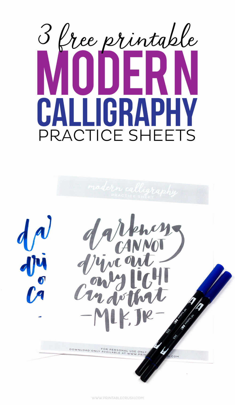 Free Calligraphy Worksheets Printable Awesome 3 Free Printable Modern Calligraphy Practice Sheets