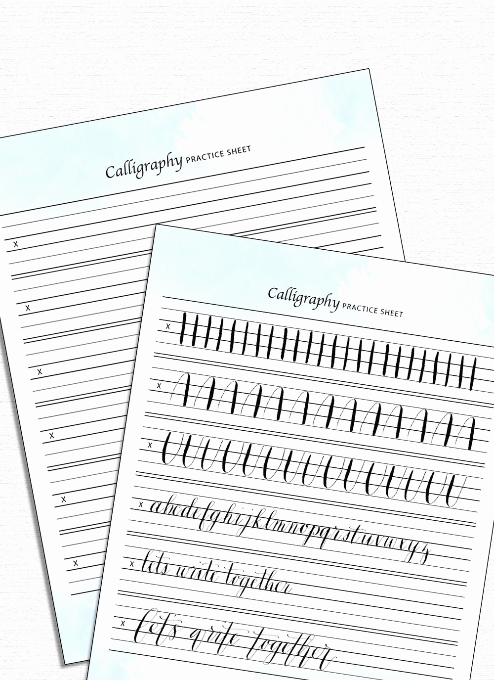 Free Calligraphy Worksheets Printable Awesome Calligraphy Practice Sheet — Drawn to Diy