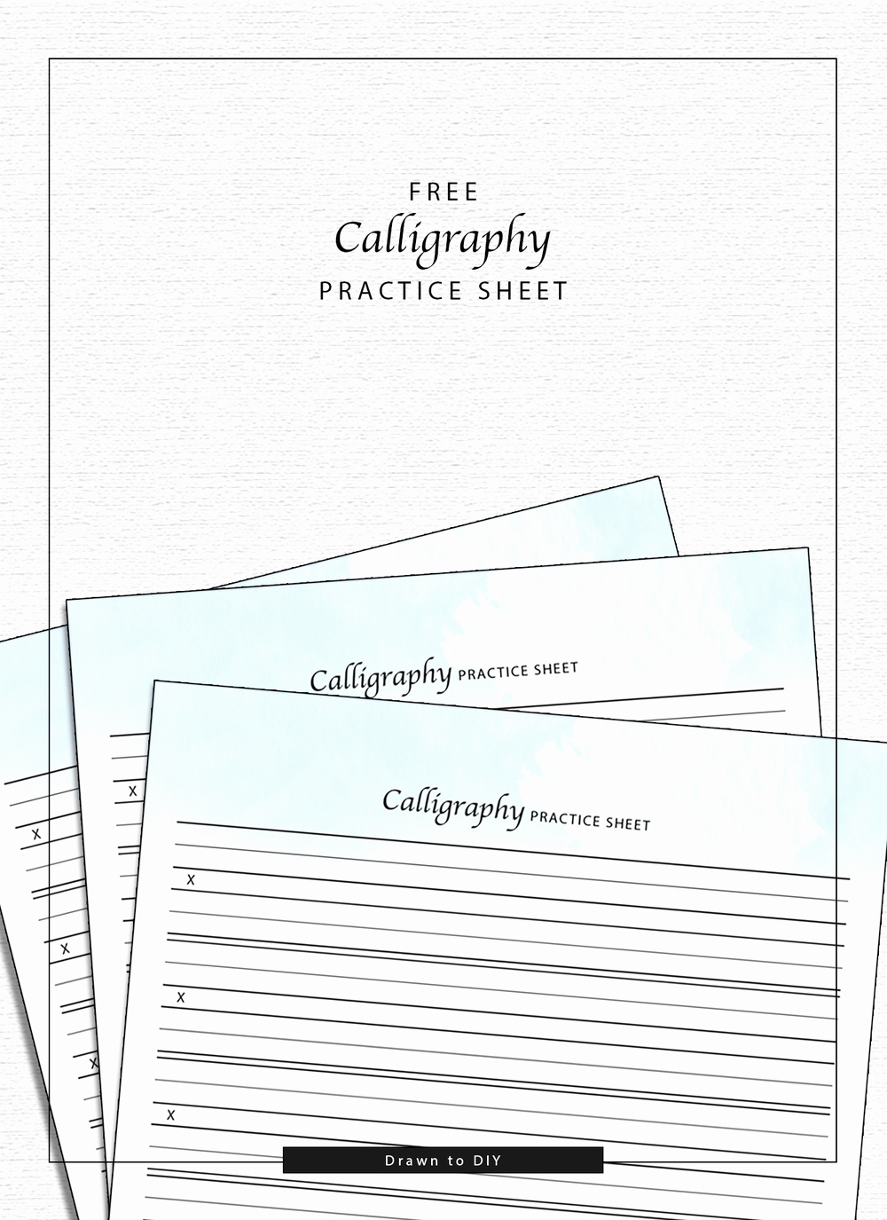 Free Calligraphy Worksheets Printable Beautiful Calligraphy Practice Sheet — Drawn to Diy