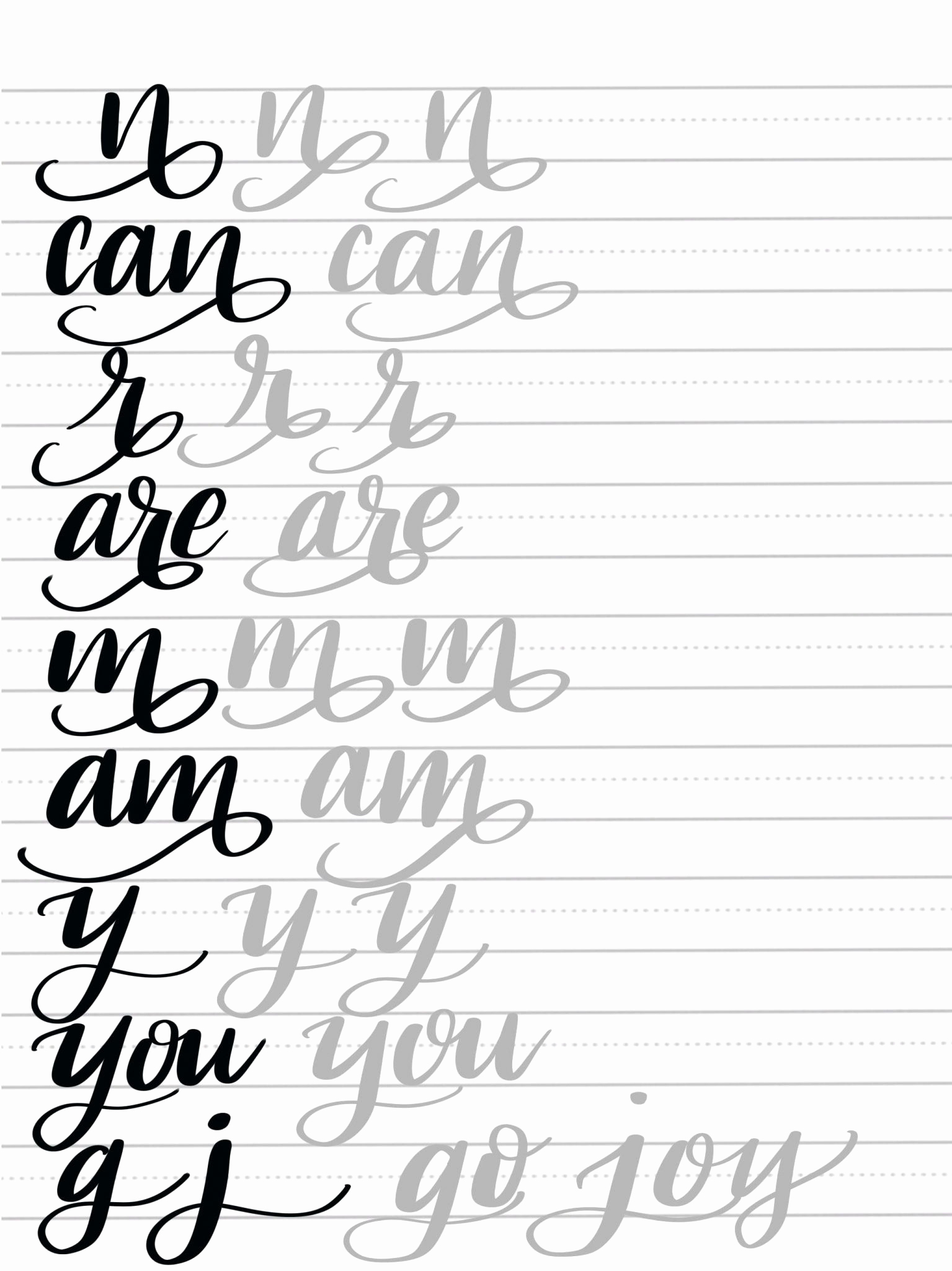 Free Calligraphy Worksheets Printable Beautiful Free Calligraphy Worksheets to Educations Free