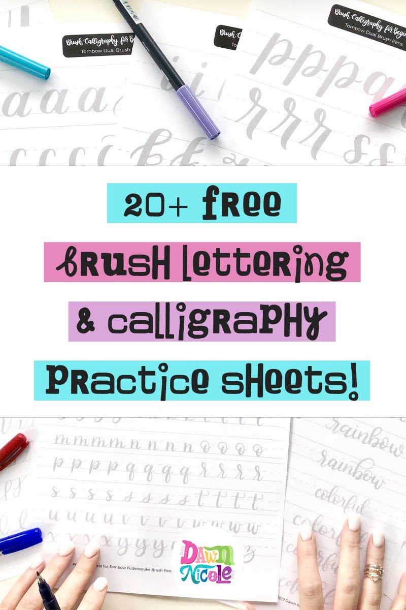 Free Calligraphy Worksheets Printable Best Of 20 Free Brush Lettering Practice Sheets