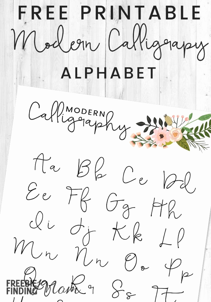 Free Calligraphy Worksheets Printable Best Of Free Printable Modern Calligraphy Alphabet