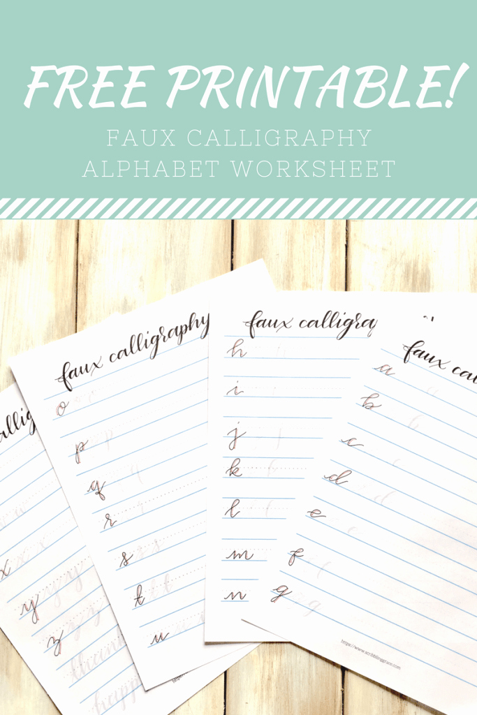Free Calligraphy Worksheets Printable Elegant Faux Calligraphy 3 Simple Steps to Beautiful Script