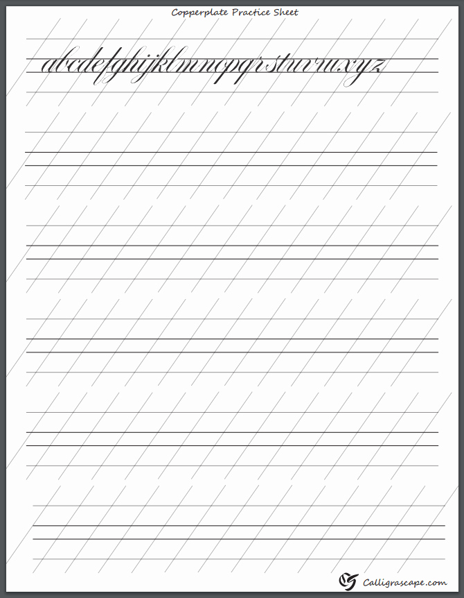 Free Calligraphy Worksheets Printable Fresh 4 Free Printable Calligraphy Practice Sheets Pdf Download