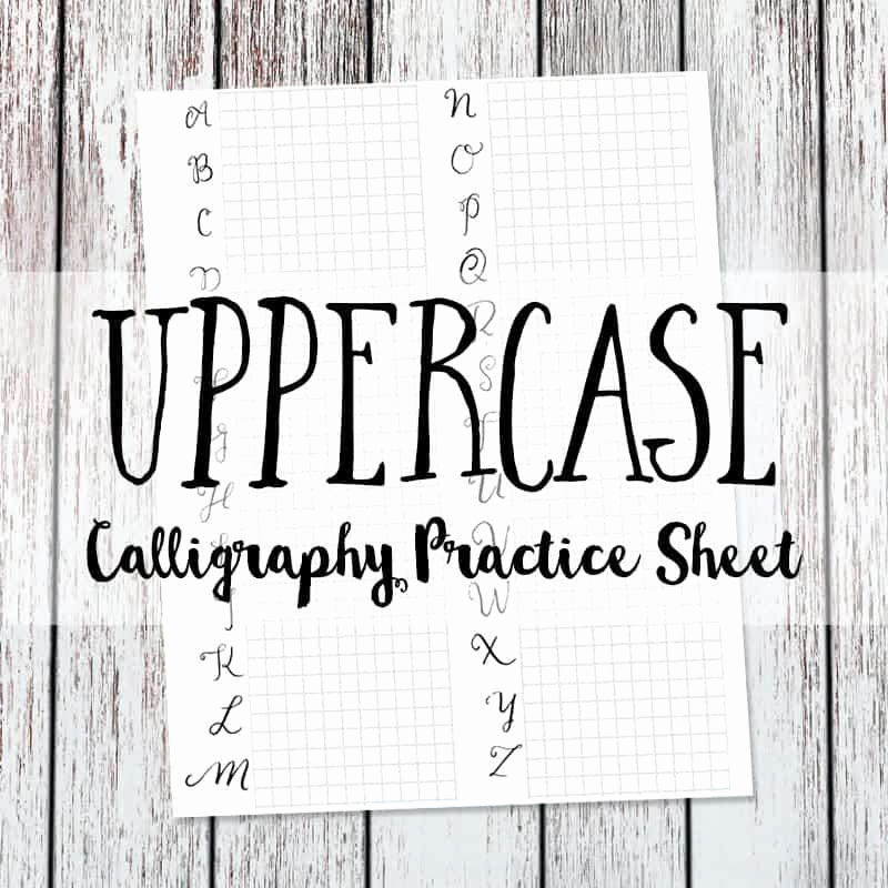 Free Calligraphy Worksheets Printable Inspirational Calligraphy Practice Sheet Uppercase Version Love Paper