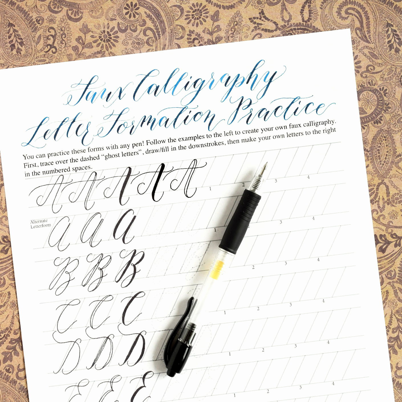 Free Calligraphy Worksheets Printable Lovely Printable Calligraphy Worksheets Kaitlin Style Learn