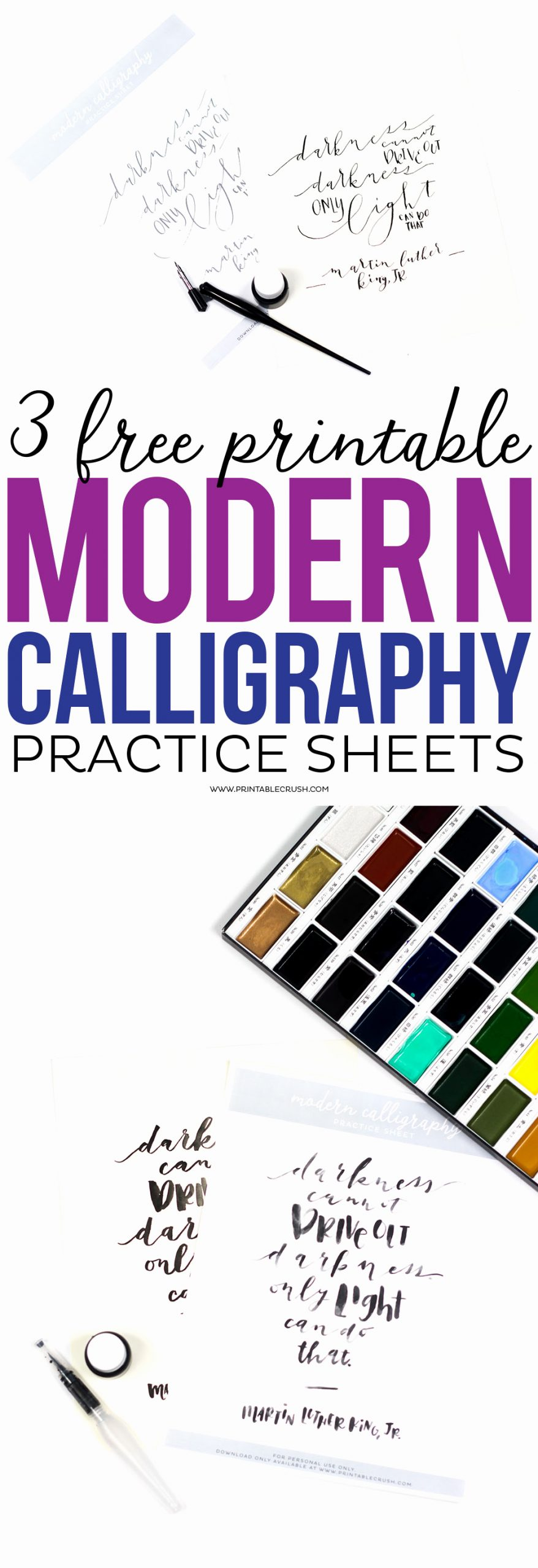 Free Calligraphy Worksheets Printable New 3 Free Printable Modern Calligraphy Practice Sheets