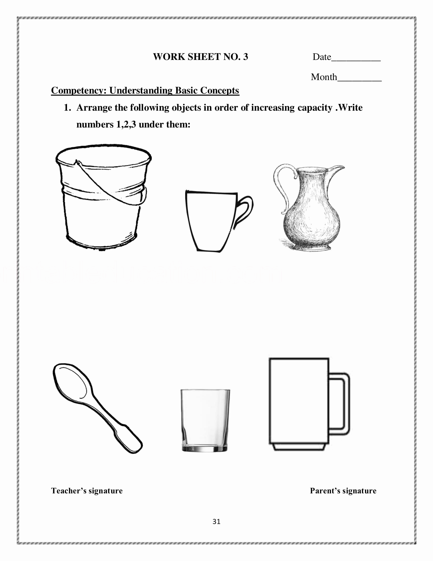 Free Capacity Worksheets Luxury Measurement Worksheet & Games for Kids