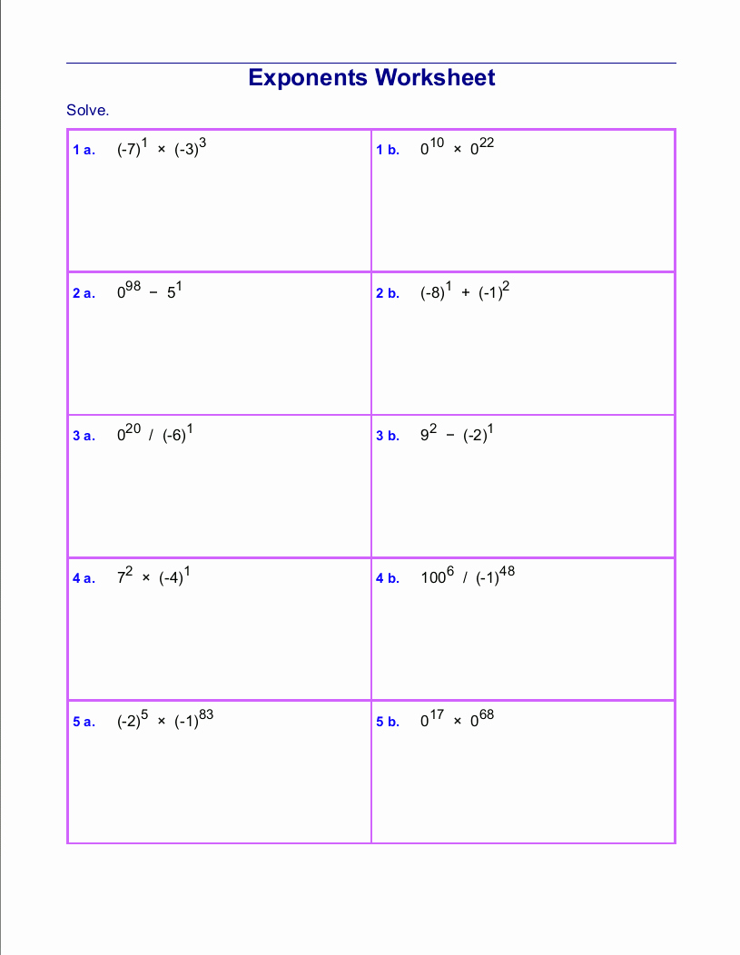 Free Exponent Worksheets Awesome Free Printable Exponent Worksheets