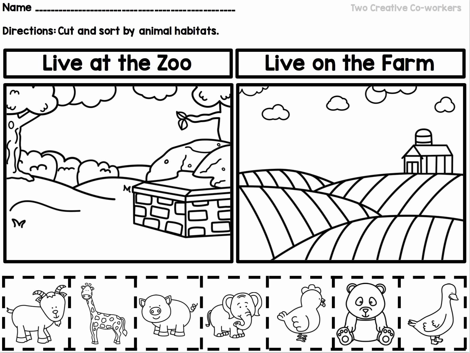 Free Habitat Worksheets Awesome Kindergarten Animal Habitats Printable Book sorting
