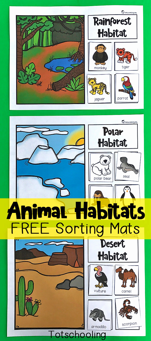 Free Habitat Worksheets New Animal Habitats sorting Mats