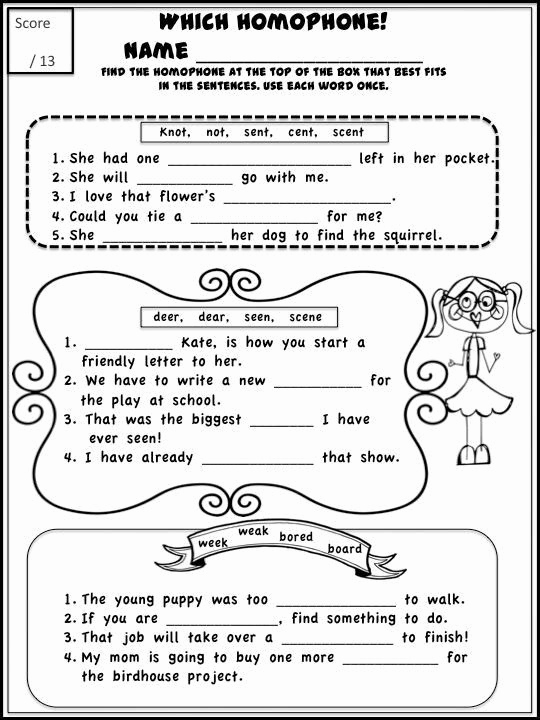 Free Homophone Worksheets Lovely Free Printable Homophone Worksheets Homophones Can Be Fun