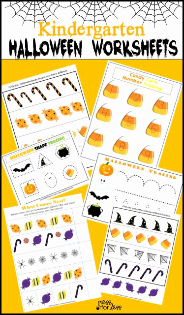 Free Kindergarten Halloween Worksheets Printable Awesome Free Kindergarten Halloween Worksheets Mess for Less