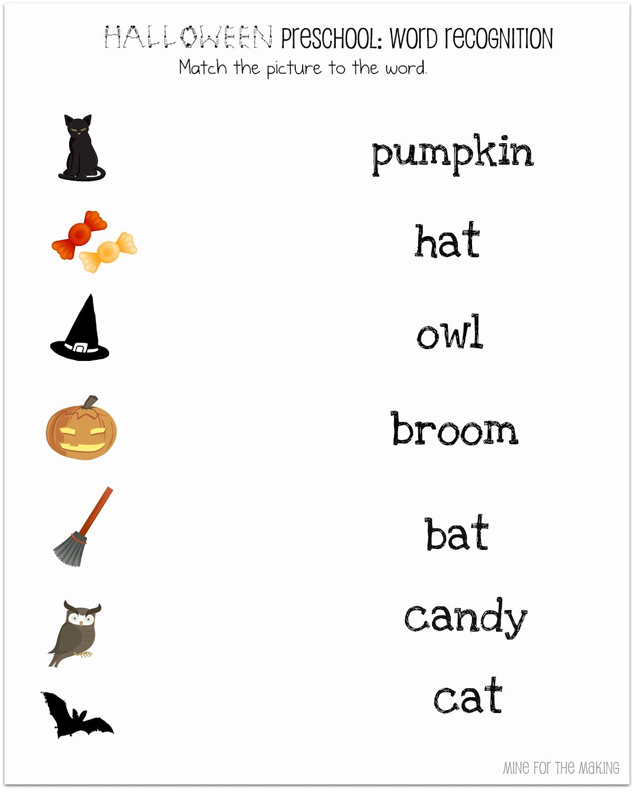 Free Kindergarten Halloween Worksheets Printable Awesome Halloween Week Halloween Preschool Printables Mine for