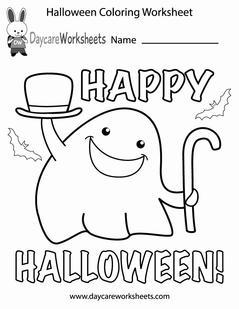 Free Kindergarten Halloween Worksheets Printable Best Of Free Preschool Halloween Coloring Worksheet