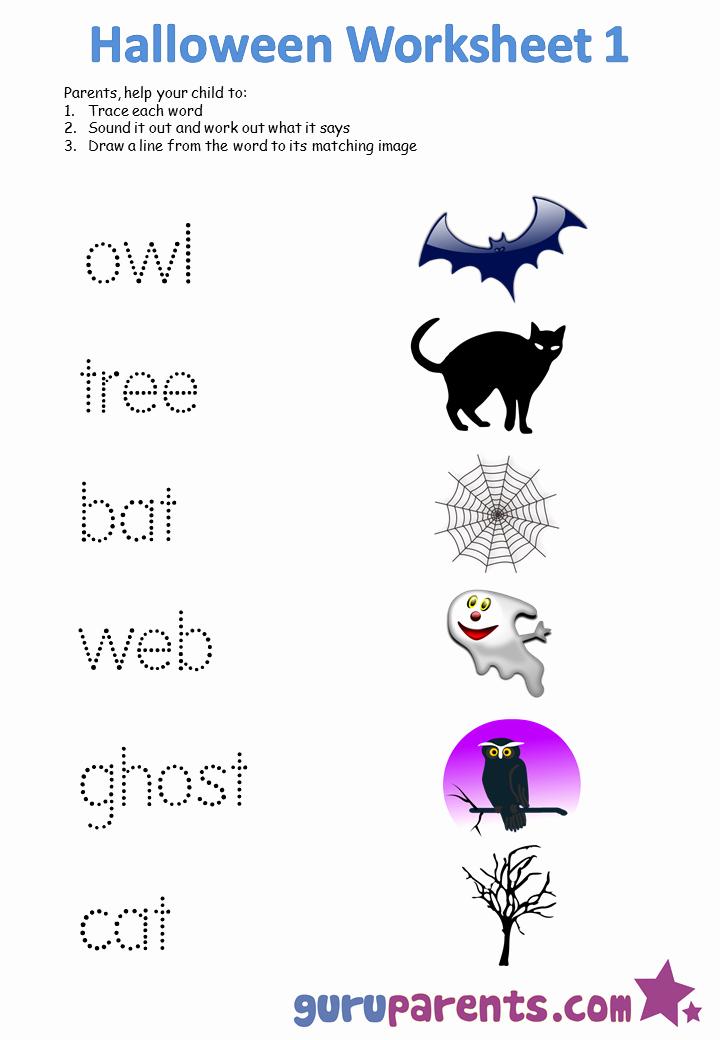 Free Kindergarten Halloween Worksheets Printable Fresh Worksheets for Preschool