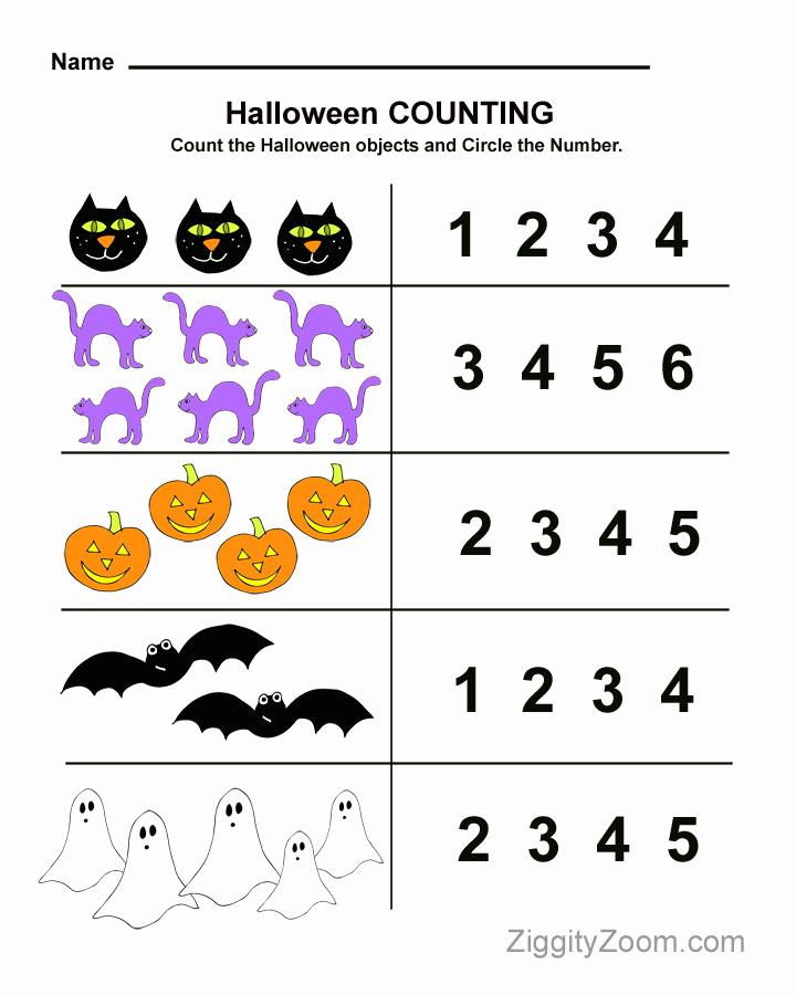 Free Kindergarten Halloween Worksheets Printable Inspirational Halloween Preschool Worksheet for Counting Practice