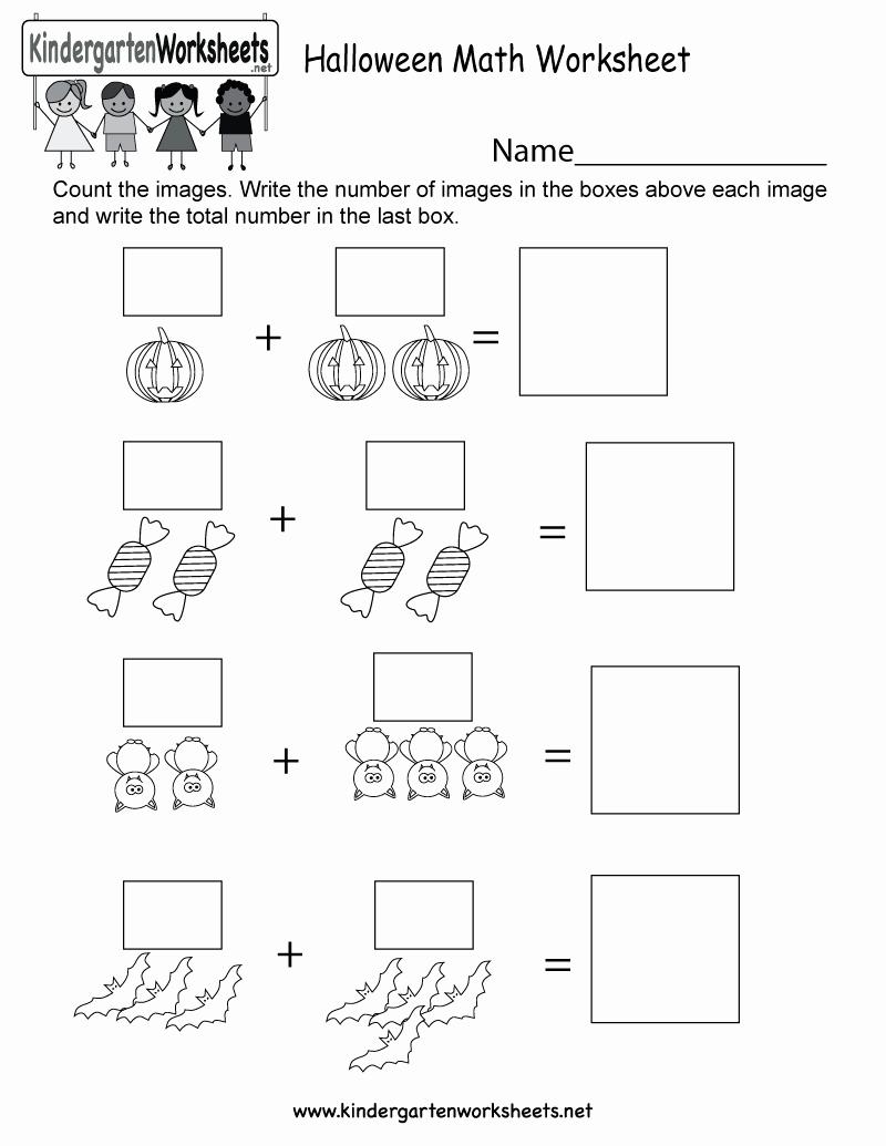 Free Kindergarten Halloween Worksheets Printable Lovely Free Printable Halloween Math Worksheet for Kindergarten