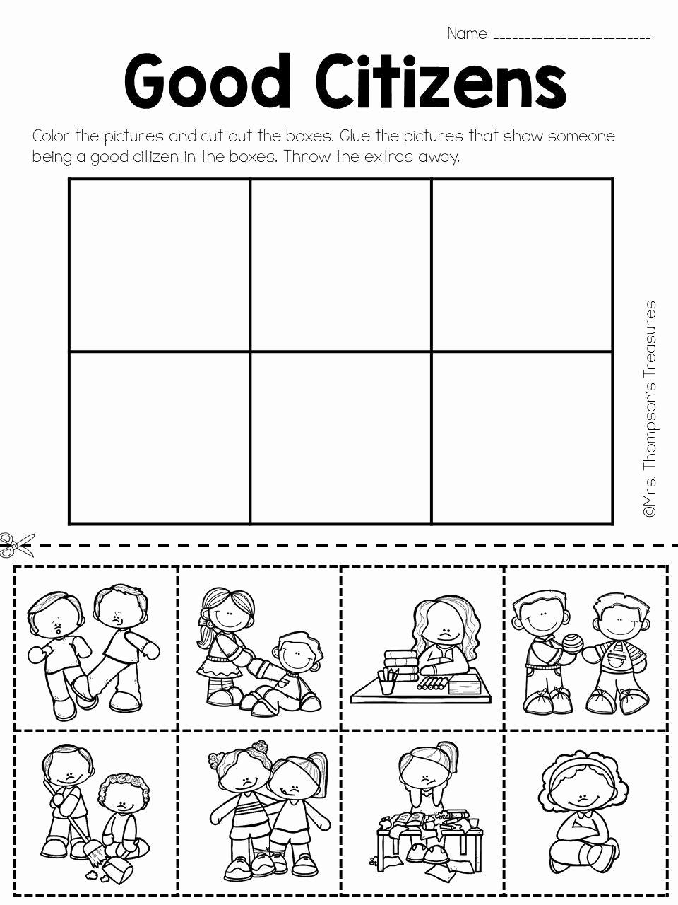 Free Kindergarten social Studies Worksheets Awesome social Stu S Worksheets for Kindergarten In 2020