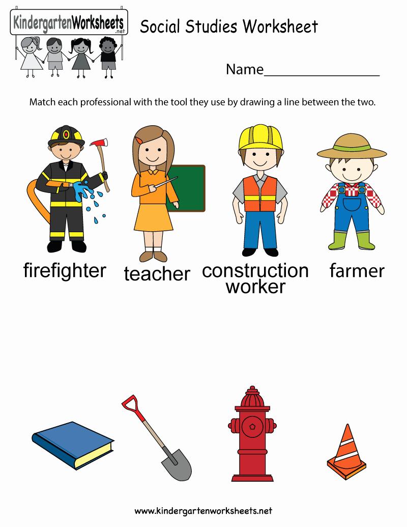 Free Kindergarten social Studies Worksheets Best Of This social Stu S Worksheet Allows Kids to Figure Out