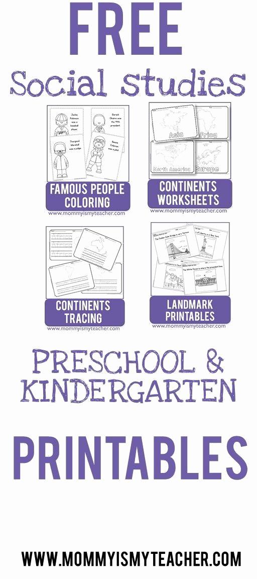 Free Kindergarten social Studies Worksheets Inspirational social Stu S Worksheets for Kindergarten In 2020
