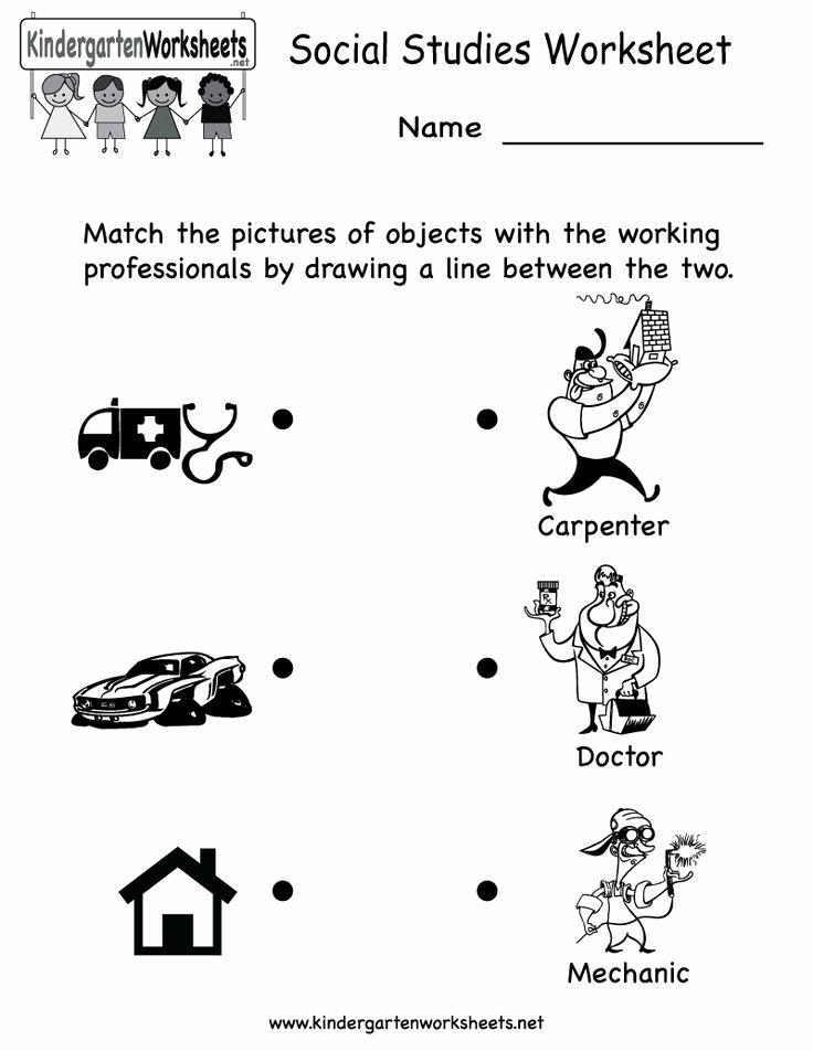 Free Kindergarten social Studies Worksheets Luxury Kindergarten social Stu S Worksheet Printable