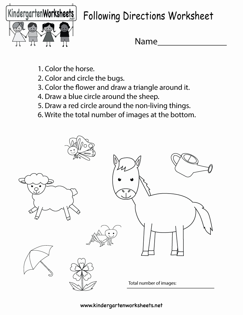 Free Kindergarten social Studies Worksheets Luxury This is A Great Following Directions Worksheet Kids Can