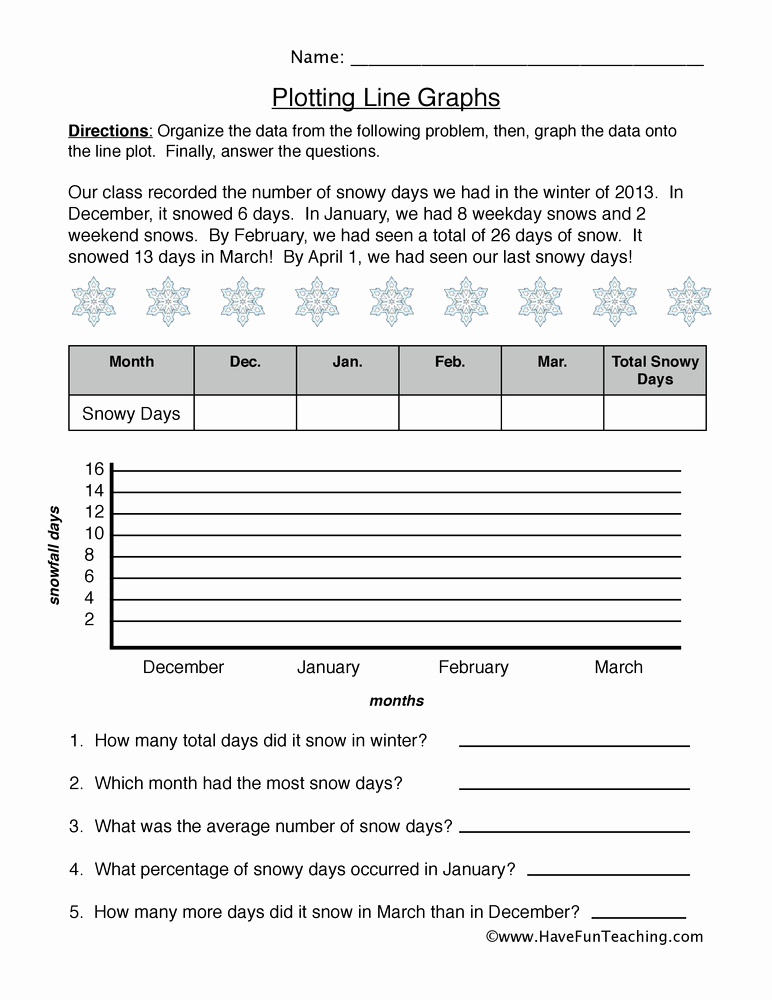 Free Line Graph Worksheets Best Of Graphing Worksheets Have Fun Teaching