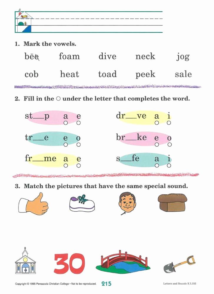 Free Printable Abeka Worksheets New Phonics Work Sheet Abeka – Learning How to Read