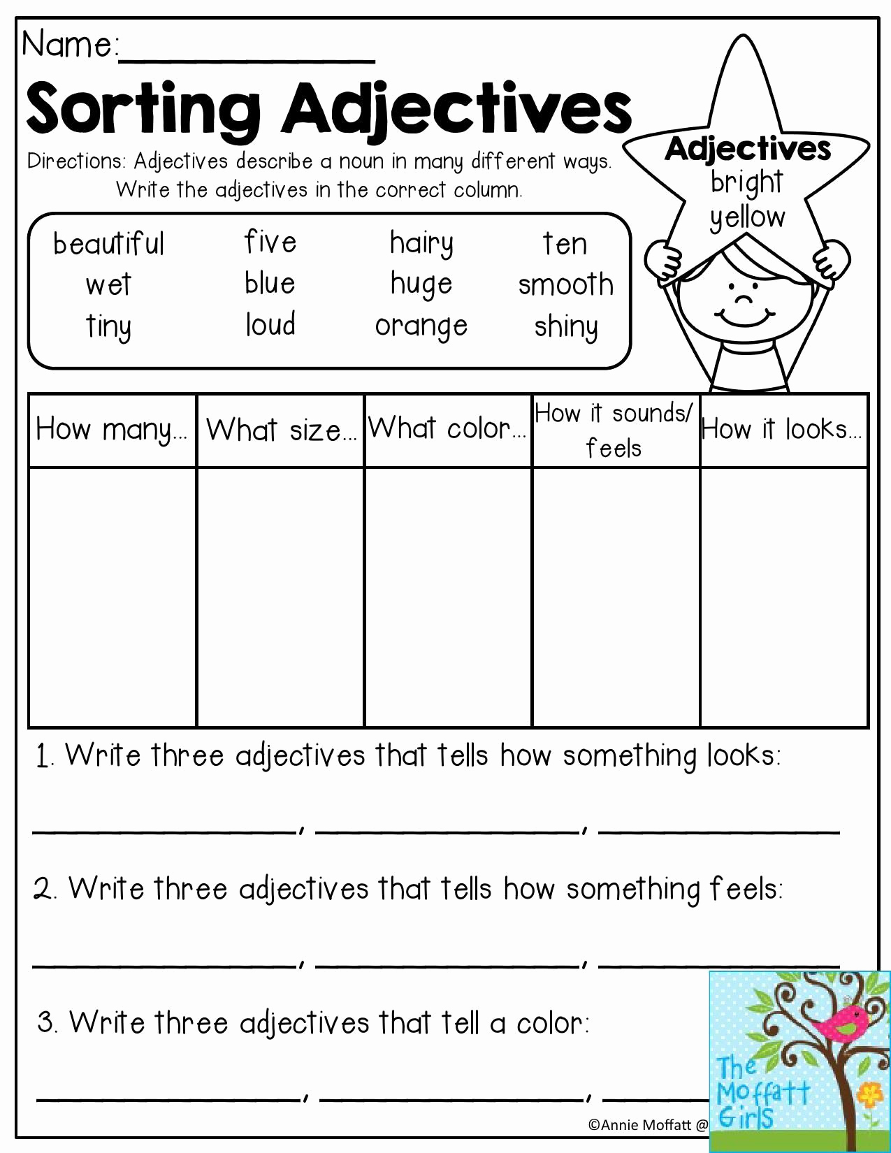 Free Printable Adjective Worksheets Beautiful 20 Adjective Worksheets 1st Grade