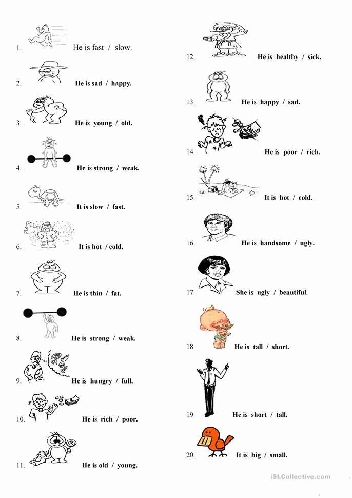 Free Printable Adjective Worksheets Beautiful Adjectives Worksheet Free Esl Printable Worksheets Made