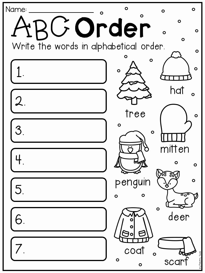 Free Printable Alphabetical order Worksheets Inspirational Free Printable Abc order Worksheets for First Grade