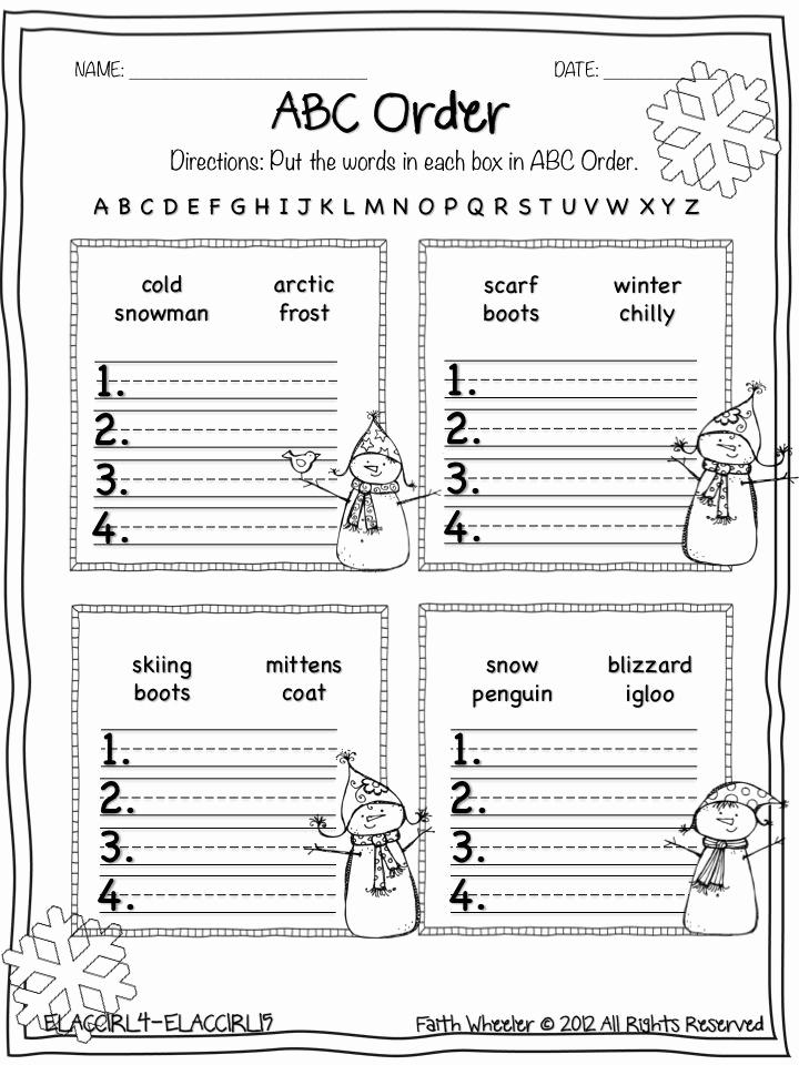 Free Printable Alphabetical order Worksheets New Free Printable Abc order Worksheets for First Grade