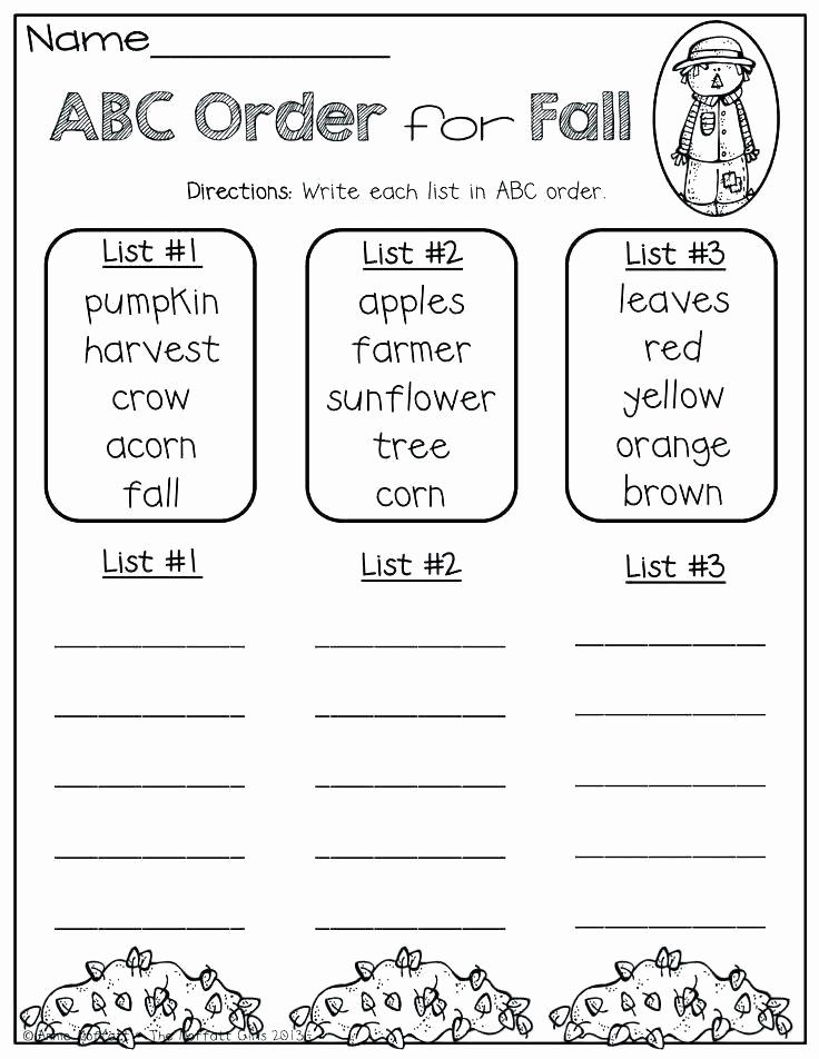 Free Printable Alphabetical order Worksheets Unique Printable Abc order Worksheets Free Printable School