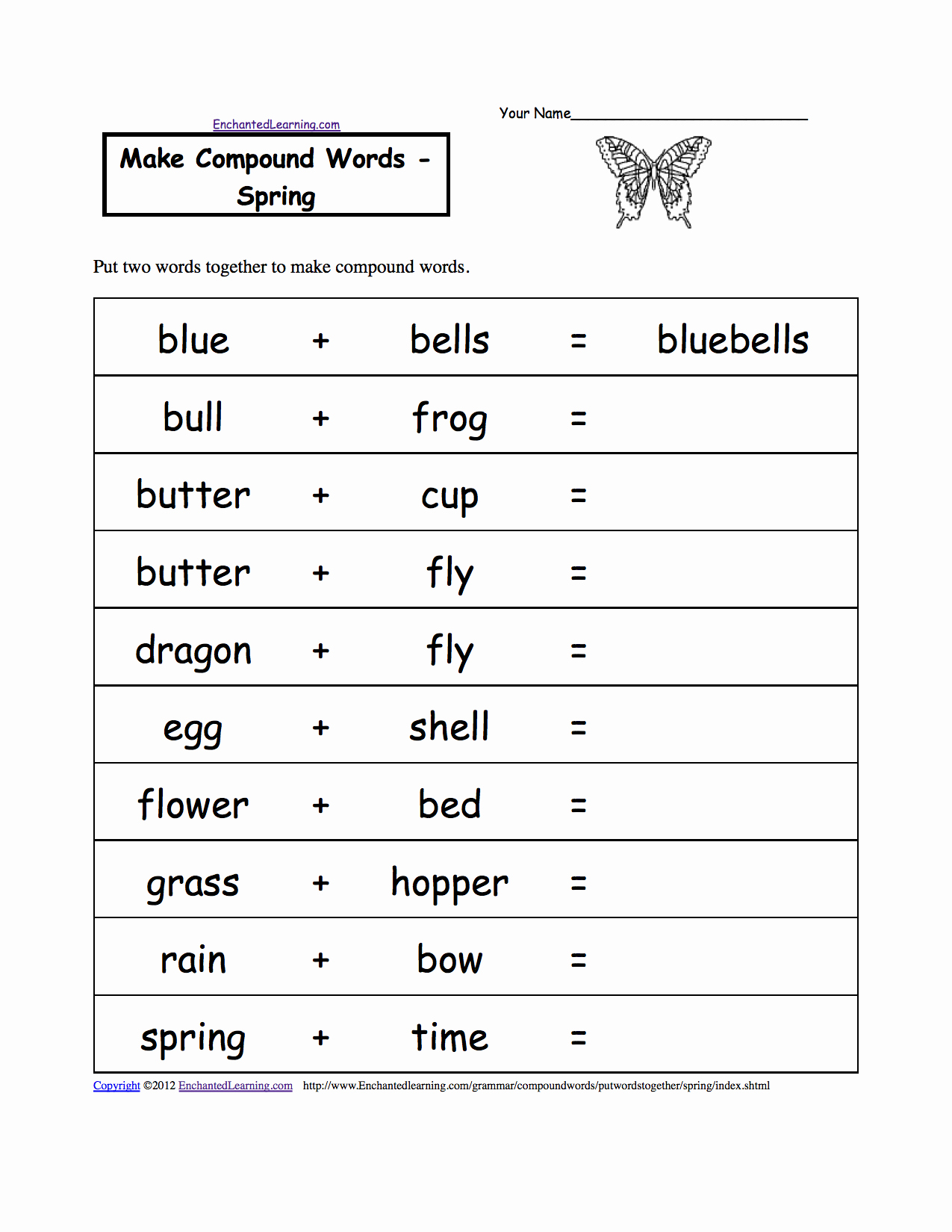 Free Printable Compound Word Worksheets Best Of Make Pound Words Printable Worksheets