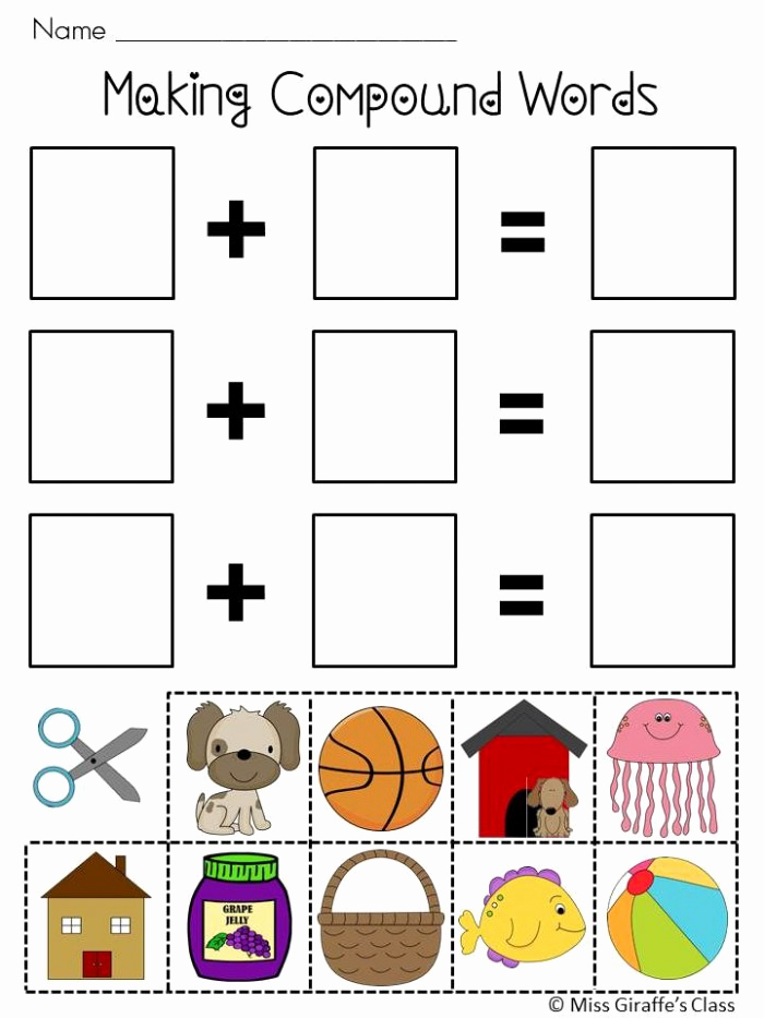 Free Printable Compound Word Worksheets Fresh Pound Words for Kids Worksheets
