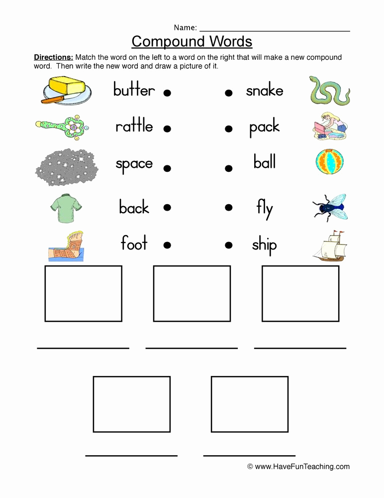 Free Printable Compound Word Worksheets Fresh Pound Words Worksheet 2nd Grade Step by Step Worksheet