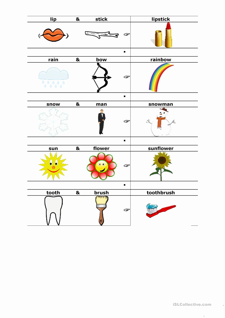 Free Printable Compound Word Worksheets Inspirational Pound Words Worksheet Free Esl Printable Worksheets