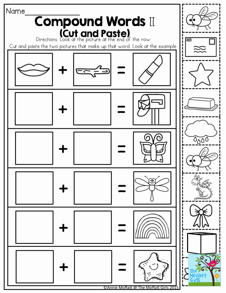 Free Printable Compound Word Worksheets Unique Pound Words Such A Fun Activity for Kindergarten