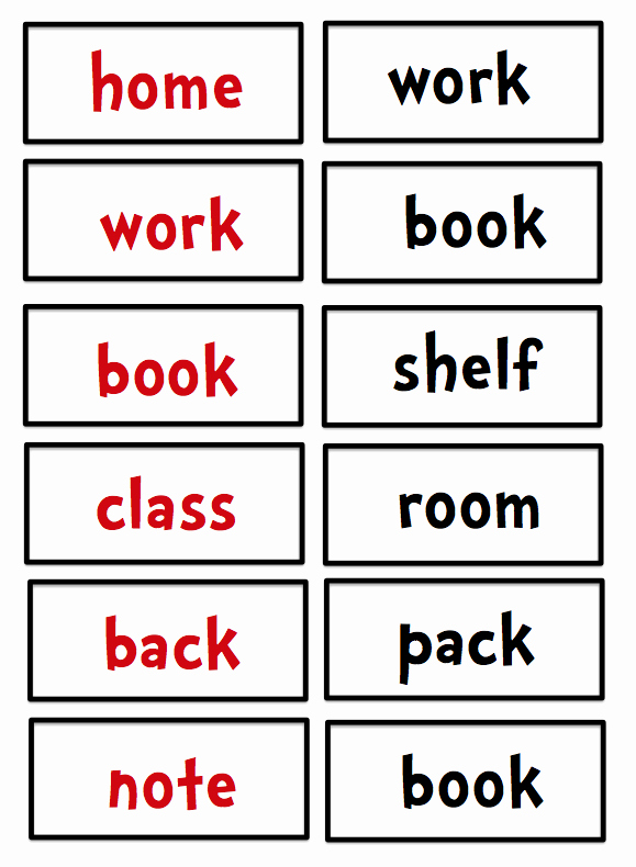 Free Printable Compound Word Worksheets Unique Preschool Printables Free Pound Word Cards
