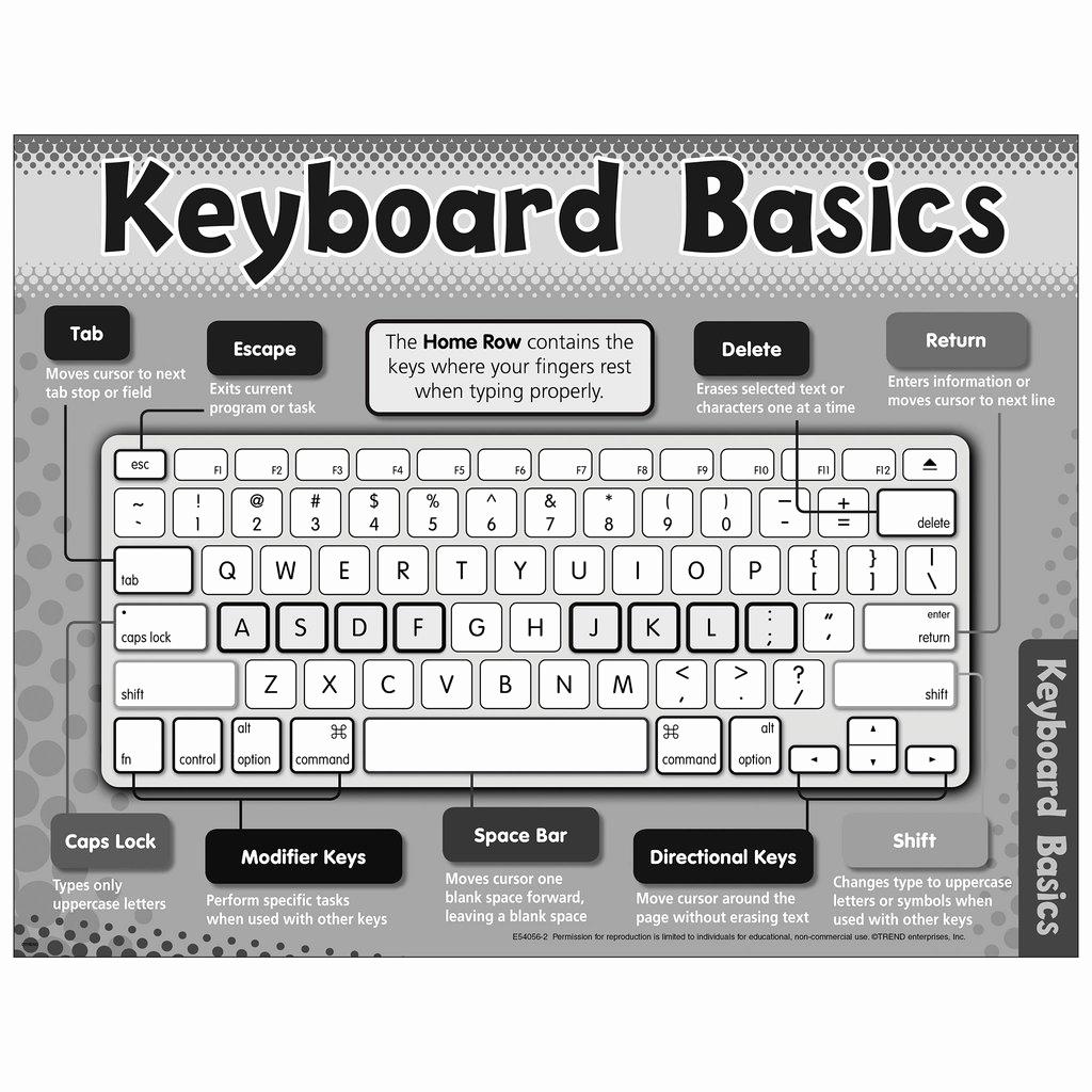 Free Printable Computer Keyboarding Worksheets Beautiful Free Printable Keyboard Basics Chart E — Trend